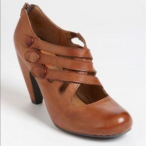 Miz Mooz Scarlett Pump Retro Chestnut Leather Heel